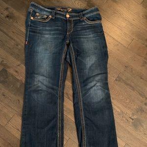 Seven7 Boot-Cut Jeans, Size 16